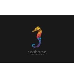 Seahorse logo Sea logo Water logo Ocean logo vector image