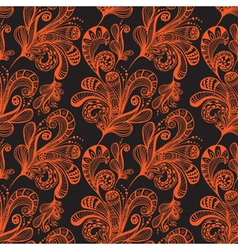 seamless great floral background vector image vector image