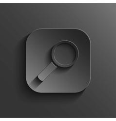 Search icon - black app button vector image