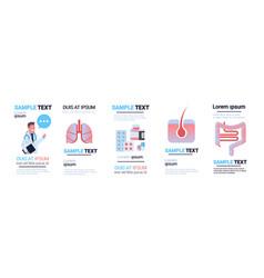 Set different human internal organs infographic vector
