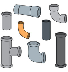 set of pipe vector image