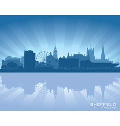 Sheffield England skyline vector image