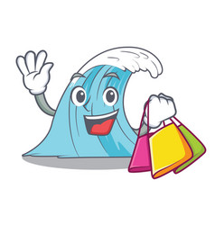 shopping waves of water graphic character vector image
