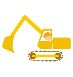 shovel man vector image