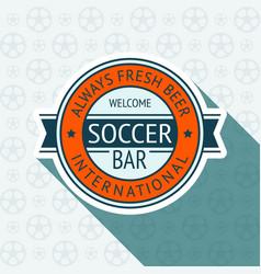 soccer pub badge vector image