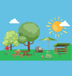 summer useful to relax in park nature outdoors vector image
