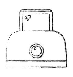Toaster bread electric icon vector