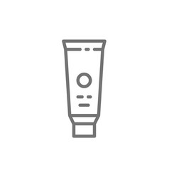 Toothpaste tooth cream line icon isolated vector