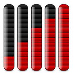 Vertical bars loading bars indicators vector