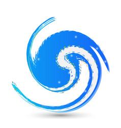 water circular wave icon vector image