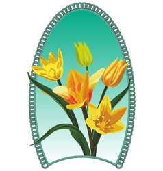 Yellow tulip vector image