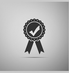approved or certified medal with ribbons vector image vector image