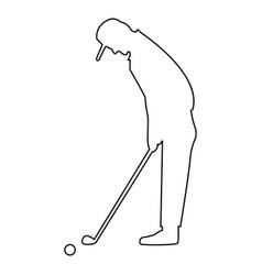 Golfer the black color icon vector