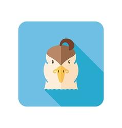 Quail flat icon Animal head symbol vector image vector image