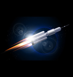 rocket in the space vector image vector image