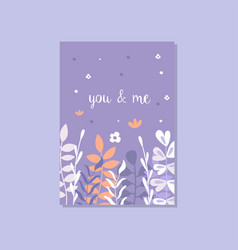 romantic greeting card with the inscription you vector image vector image