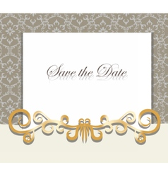 Vintage Invitation card with ornaments vector image vector image