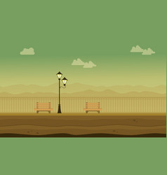 flat of garden scenery for background game vector image vector image