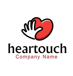 Heartouch design vector