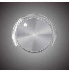Metal volume button vector image