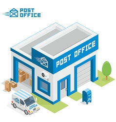 Post office building vector image vector image