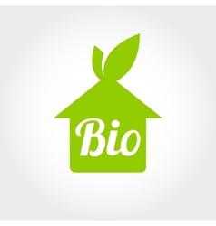 BIO GREEN HOUSES ICONS vector image