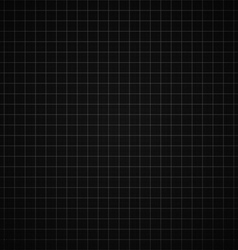 Black graph paper background vector image vector image