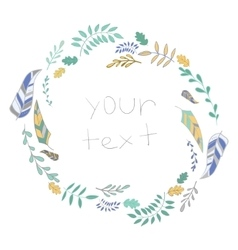 Frame leaves with text vector image