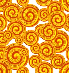 Golden Spiral seamless pattern Curl pattern vector image