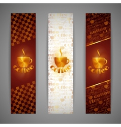 set of banners with coffee cup vector image