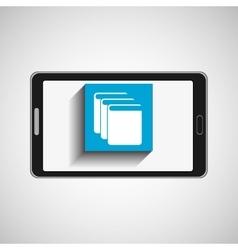 Smartphone technology library e-books vector