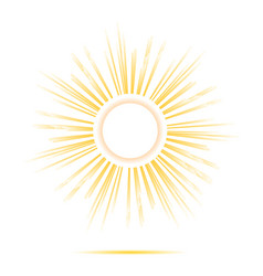 sun rays circle frame vector image vector image