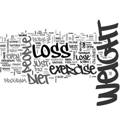 is it best to diet or exercise for weight loss vector image