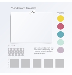 Mock up template isolated on white vector
