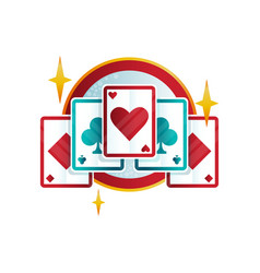 original logo design for casino or poker club with vector image vector image