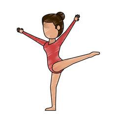 woman ballet dancer vector image