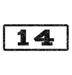 14 watermark stamp vector image