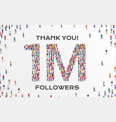1m followers group business people vector