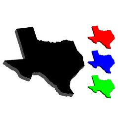 3d map of texas vector image