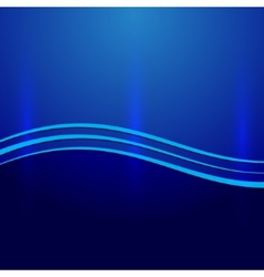 Abstract blue metallic background with wave vector