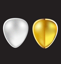 abstract gold and silver icon symbol vector image