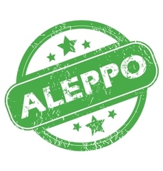 Aleppo green stamp vector