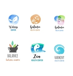 Alternative medicine and wellness yoga concept vector image