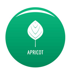 apricot leaf icon green vector image