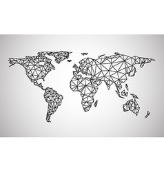Black abstract world map vector image