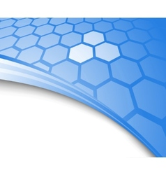 blue abstract background with cells vector image
