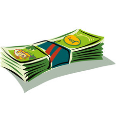 Bunch of banknotes vector