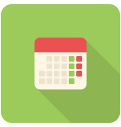 calendar icon vector image
