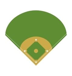 Camp diamond baseball sport vector