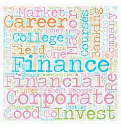 career in numbers finance majors text vector image